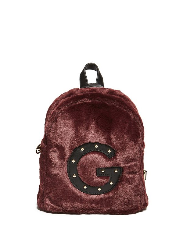 Faux-Fur Logo Mini Backpack 7e1bf076747be