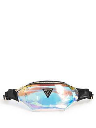 Clear Iridescent Fanny Pack by Guess