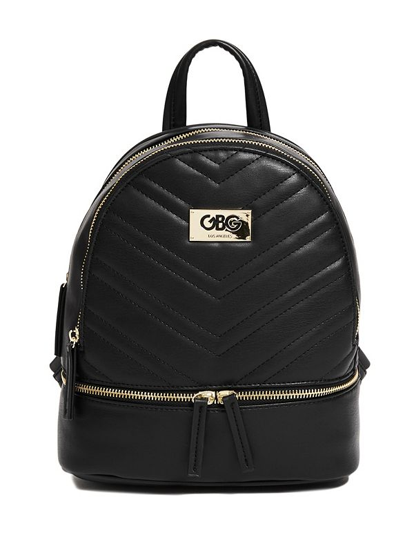 f030f7e2ce Quilted Faux-Leather Backpack