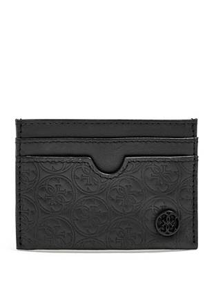 Quattro G Logo Embossed Card Case by Guess