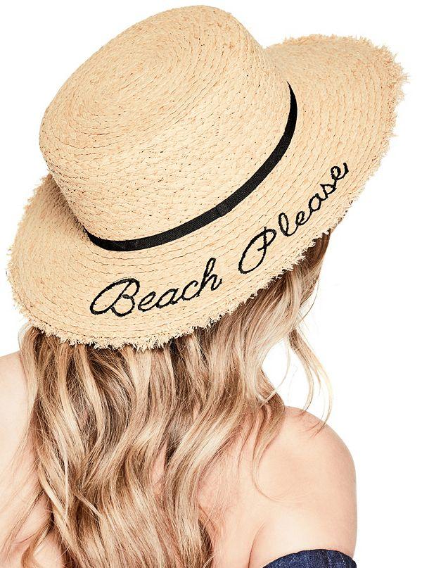 262f1b27c Beach Please Raffia Boater Hat | GUESS.com