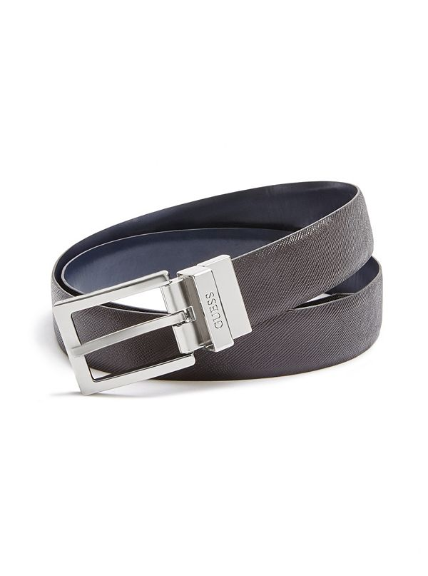 reversible leather belt guess