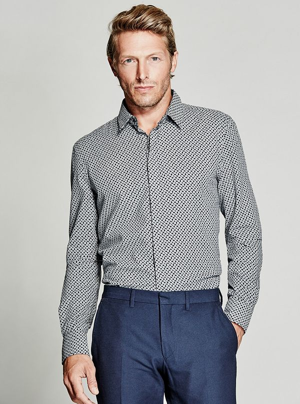 Long Sleeve Slim Fit Shirt Guess By Marciano