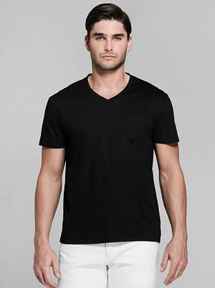V Neck Pocket Tee by Guess