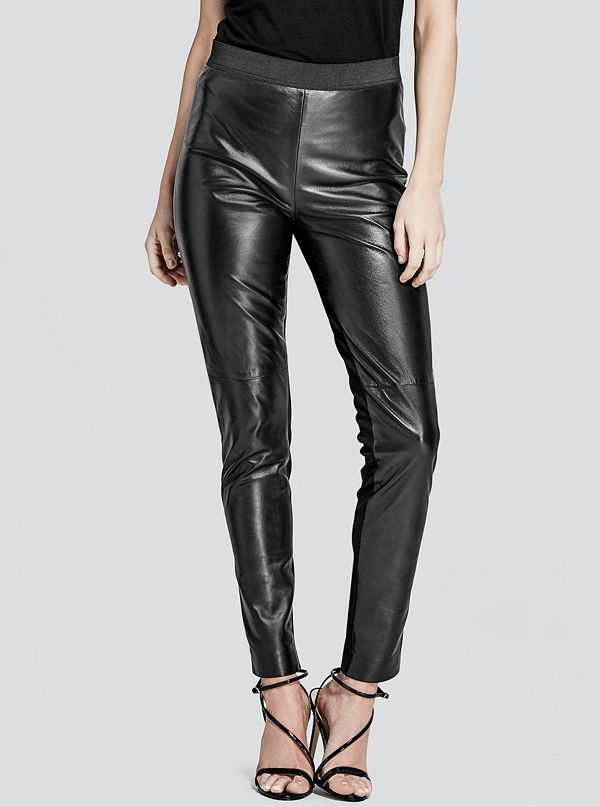 a384d2fe1cdeb5 Wynter Leather Legging | GUESS by Marciano