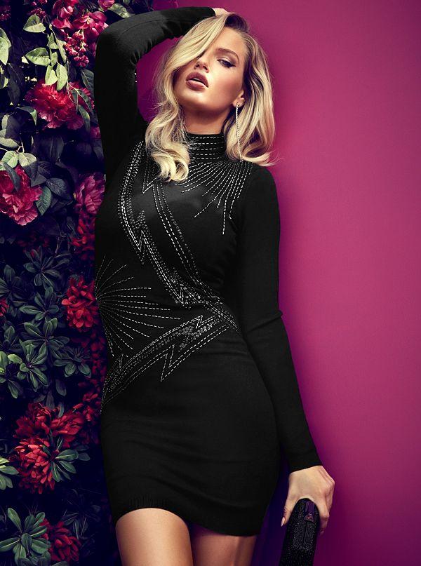 e628f821bf703 Galaxy Embellished Sweater Dress