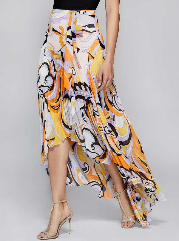 a50dc8e0e6 Magic Hour Pleated Maxi Skirt   GUESS by Marciano