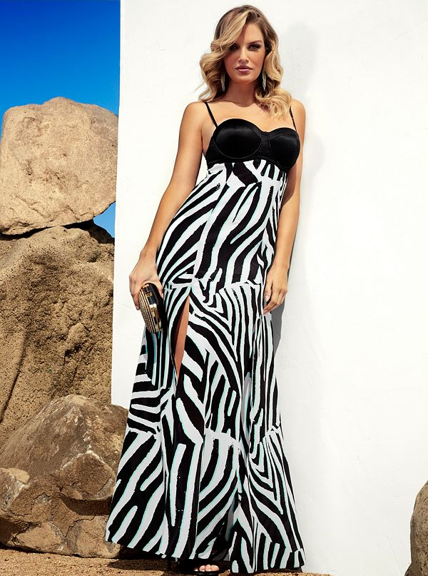 2006f1623c Concrete Jungle Maxi Dress