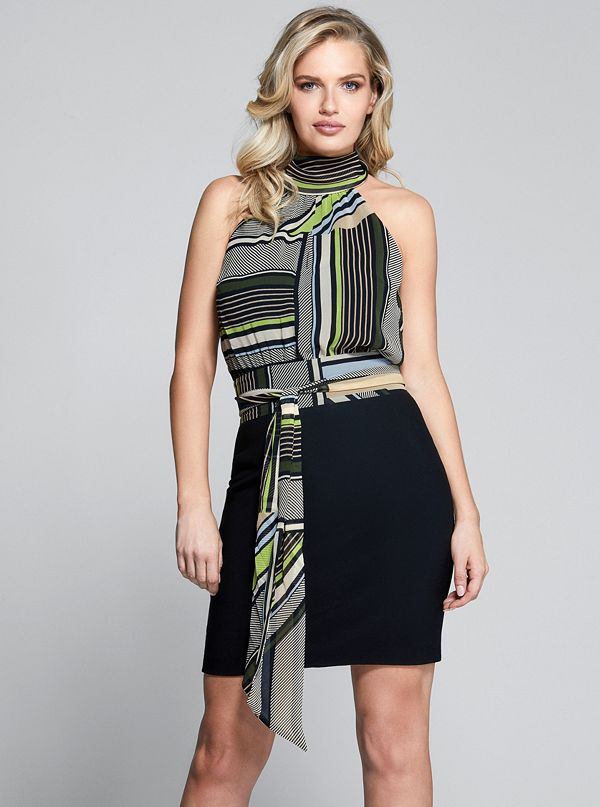 516ad5a539 Seeing Stripes Halter Dress. 92G8427120Z-PK96-ALT4. 92G8427120Z-PK96.  92G8427120Z-PK96-ALT1