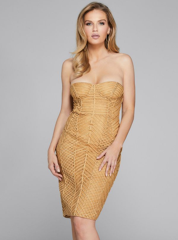 4b073504c359 Axel Embellished Strapless Dress