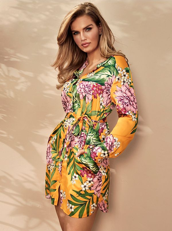 cfb954090b31 Tropical Print Shirt Dress