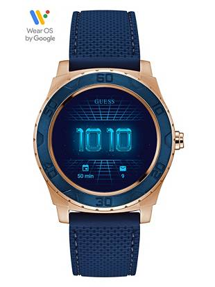 Connect Gold Guess And Smartwatch Blue Tone shBCtdxrQ