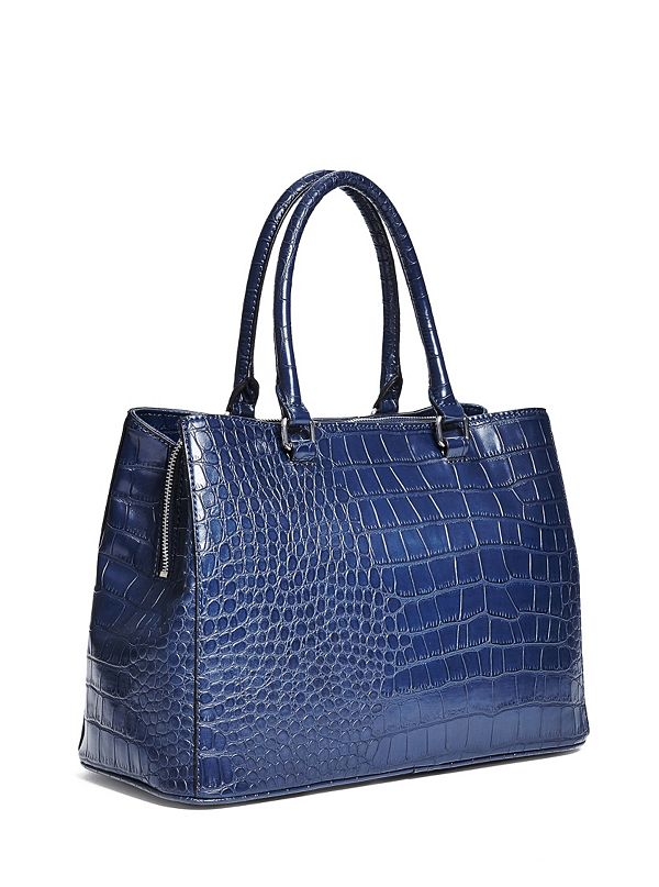 c croc embossed satchel guess factory canada