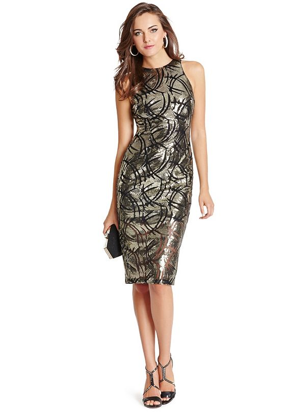 5458adcaed34 Julia Mesh Sequin Dress | GUESS by Marciano