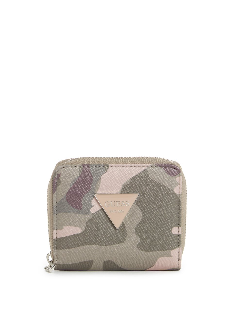 GUESS Factory Womens Abree Small Zip-Around Wallet