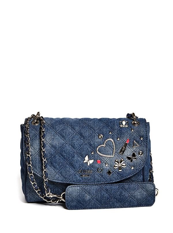 9b747f26007 Darin Convertible Denim Crossbody   GUESS.com