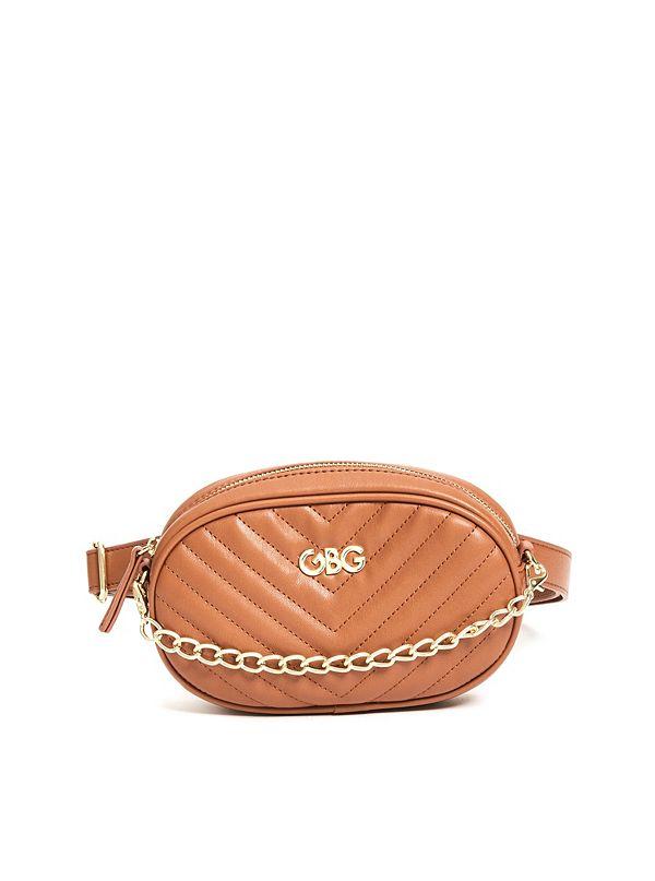 508815f53bb0 Chain Faux-Leather Belt Bag