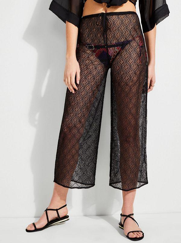 Christa Crochet Cover Up Pants Guessca