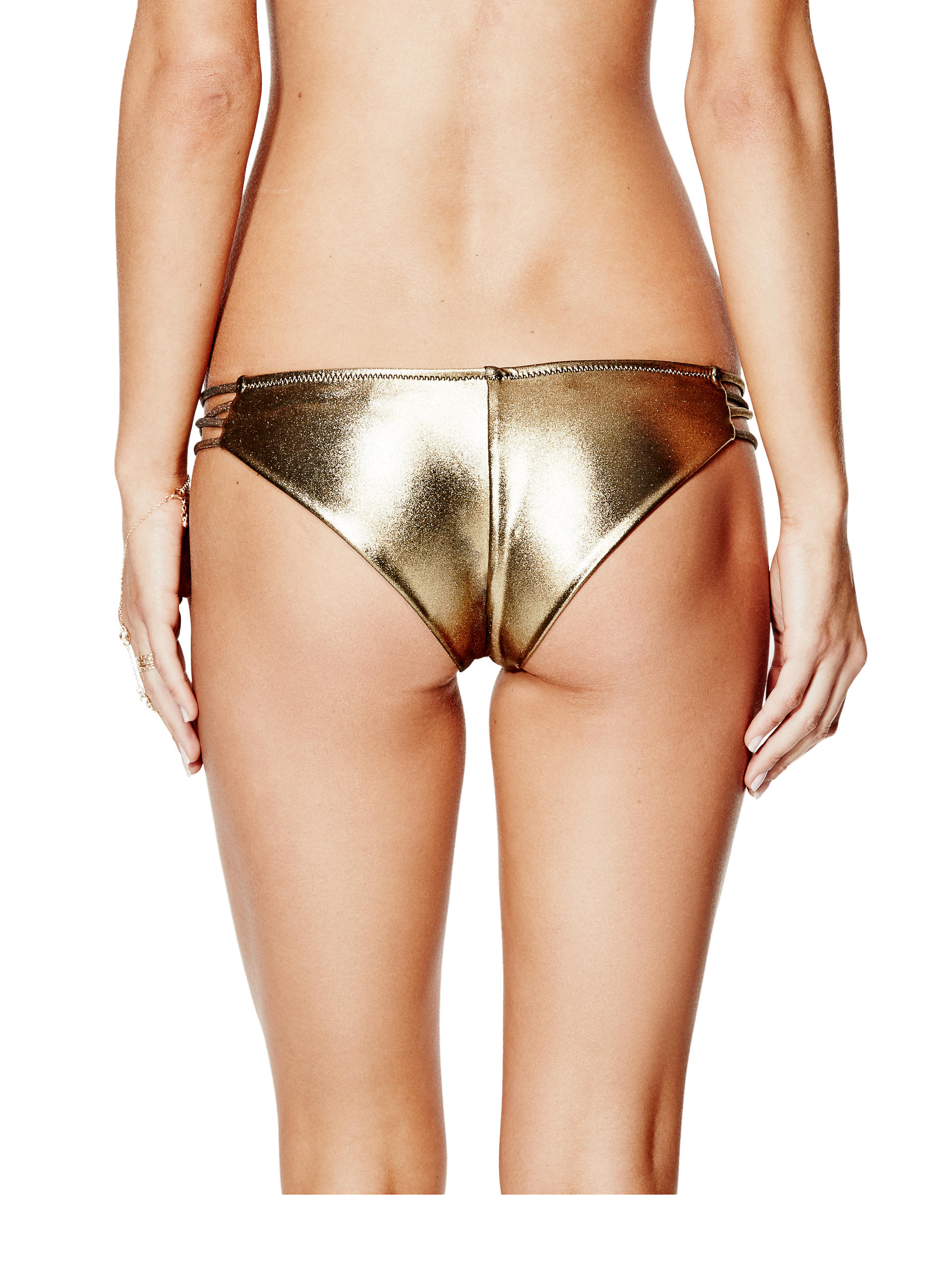 Gold metalic bikini