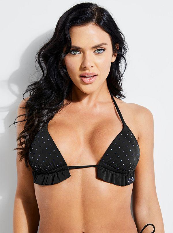 23e23833ecb96 Rhinestone Triangle Bikini Top