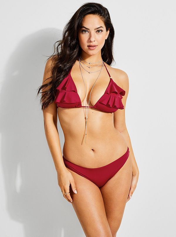 158e91f3fd335 Ruffled Triangle Bikini Top