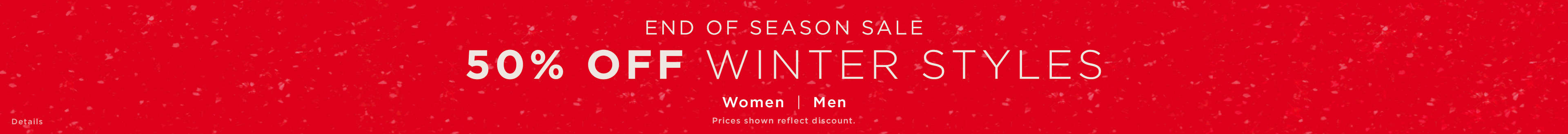 50% off winter styles