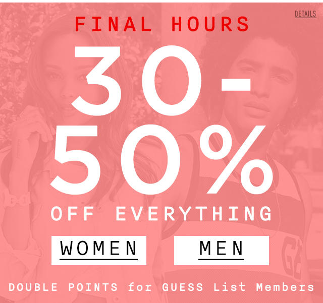 50% Off Everything FINAL HOURS