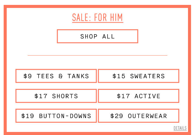 Sale: For Him