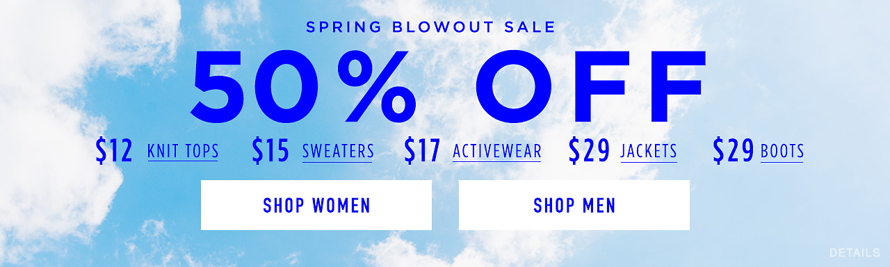 Spring Blowout Sale: 50% Off