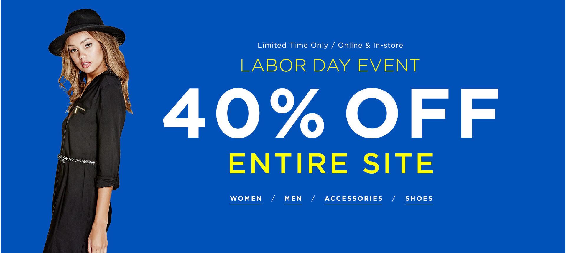 40% Off Entire Site