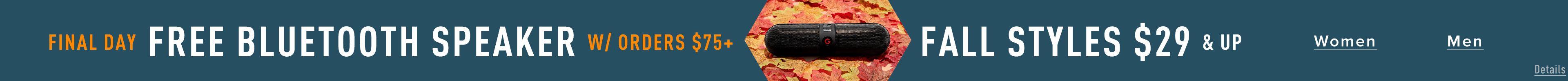 Free Bluetooth Speaker