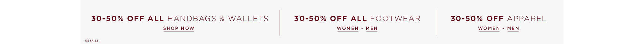 40% Off All Accessories and Shoes