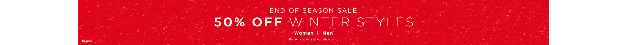 50% Off winter sales