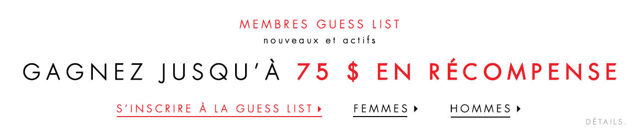 Join GUESS List