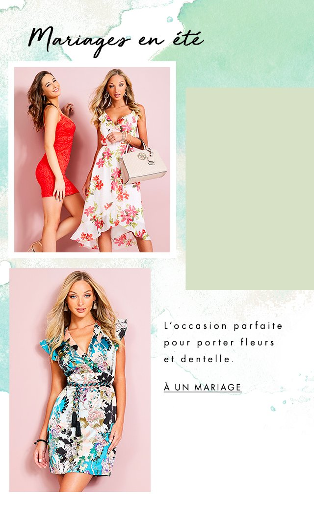 Also known as the perfect place(s) for florals and lace. Wedding-Guest Dresses