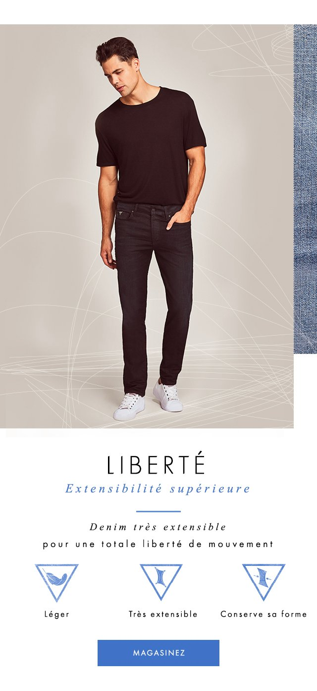 High-stretch denim with limitless movement