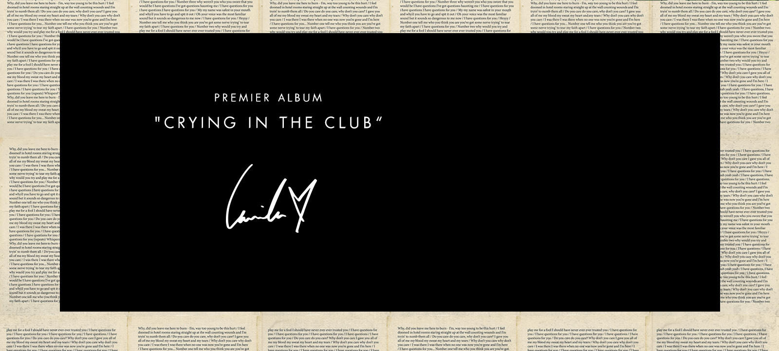 Debut Single Crying in the Club
