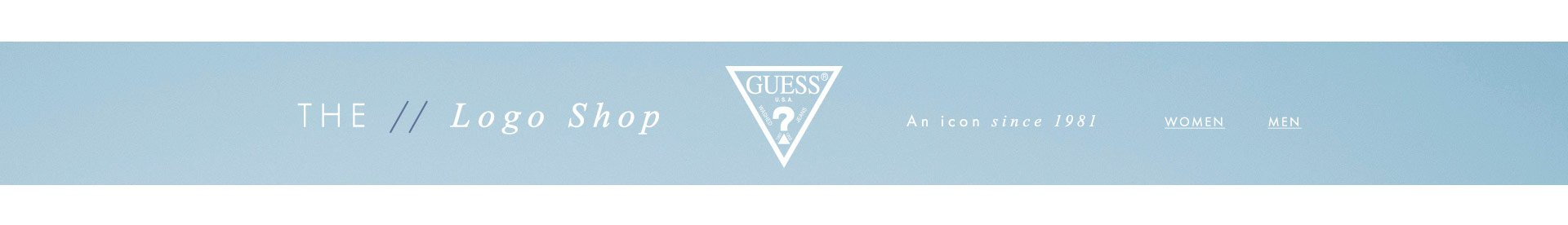 GUESS? Logo shop