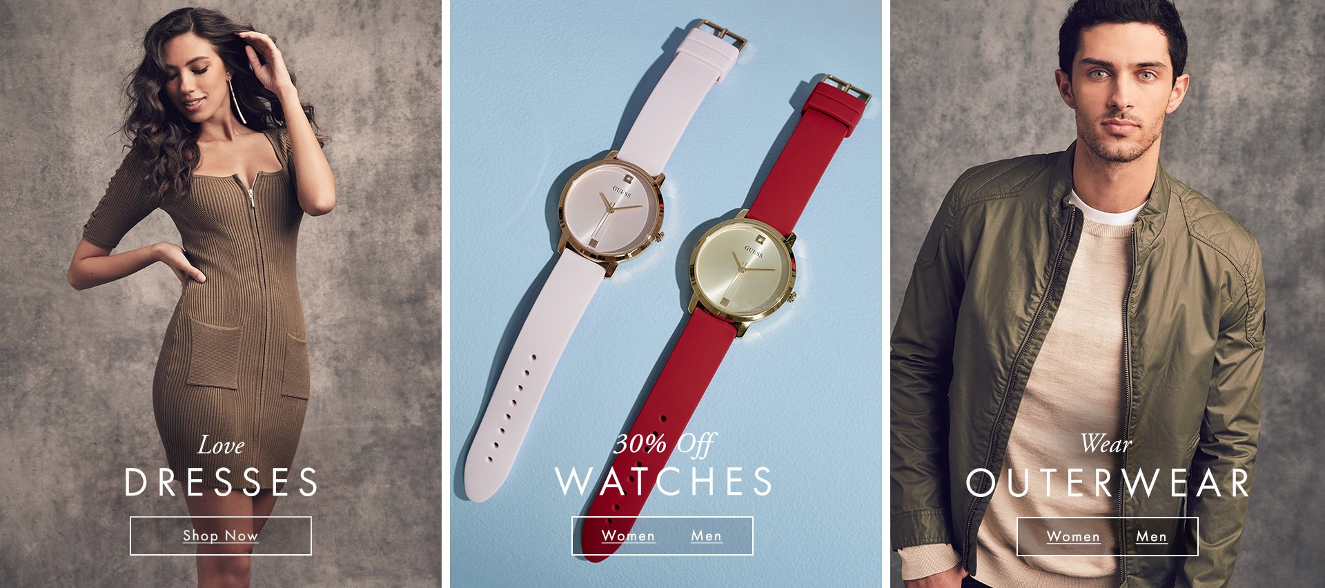 GUESS Dresses, Watches & Outerwear