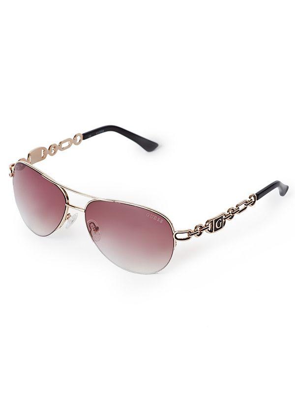 Chain Aviator Sunglasses  0a46d1861f