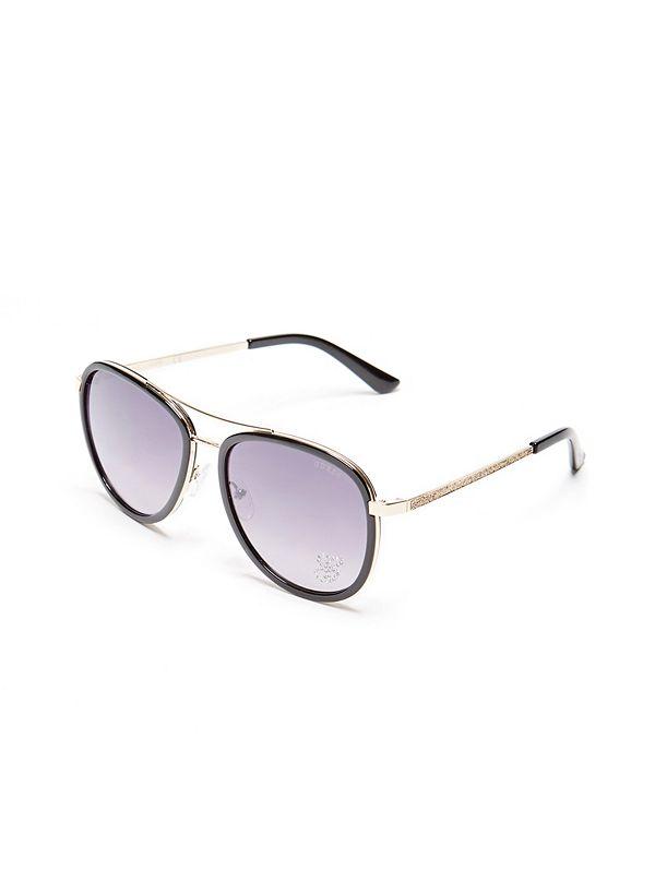 d8874fab92 Rhinestone G Aviator Sunglasses