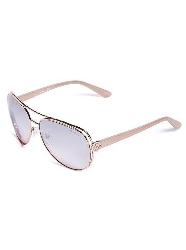 6264f9923e Logo Aviator Sunglasses