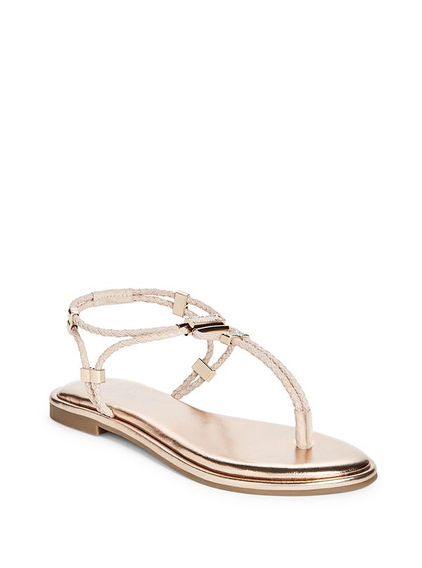 5204cc6c30b65 Coin Stretch-Cord Strappy Sandals | GuessFactory.ca