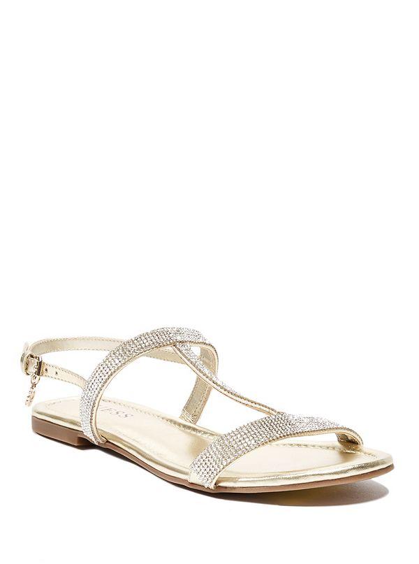 19fb95941 Crystie Rhinestone Flat Sandals