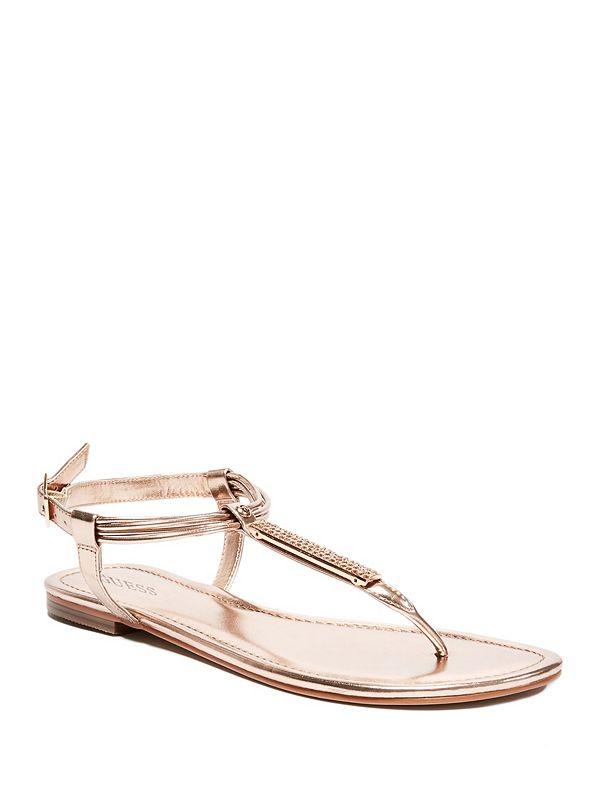 777320ed11d Daphne Rhinestone Thong Sandals