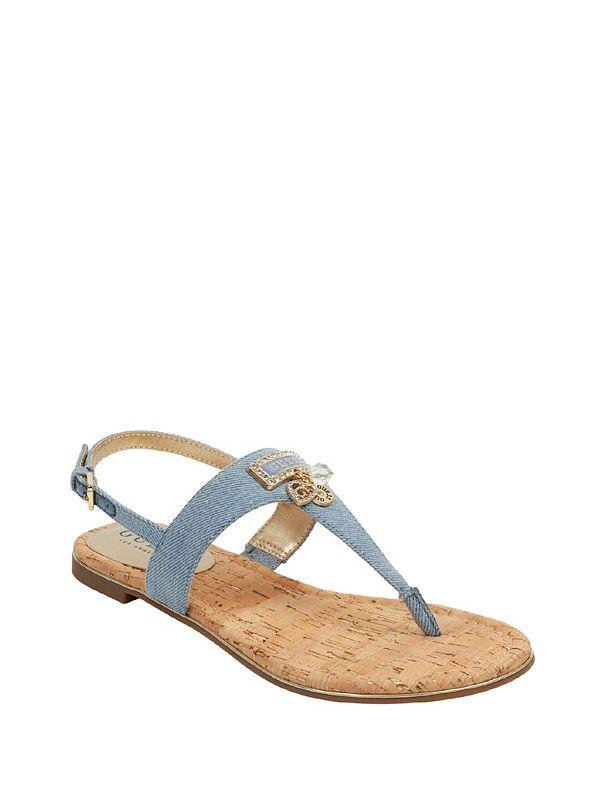 2028aba7ee23 Deeper Denim T-Strap Sandals