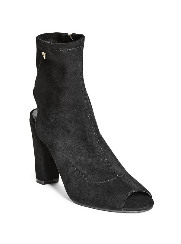 Boots for Women, Booties On Sale in Outlet, Black, Suede leather, 2017, 5.5 Guess