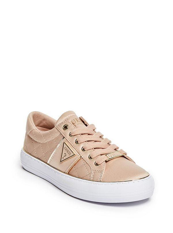 Gilda Satin Quilted Low-Top Sneakers  57c5cf29bc