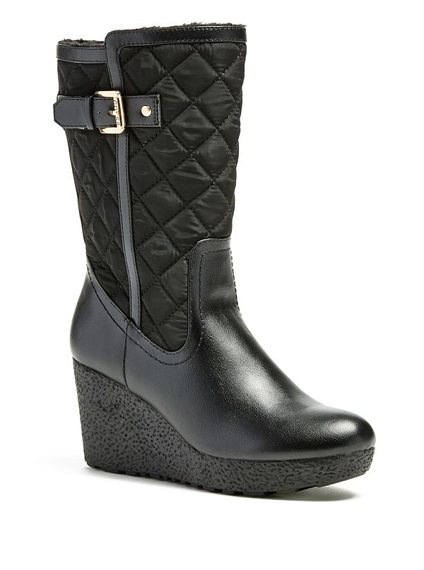 hye wedge snow boots guessfactory