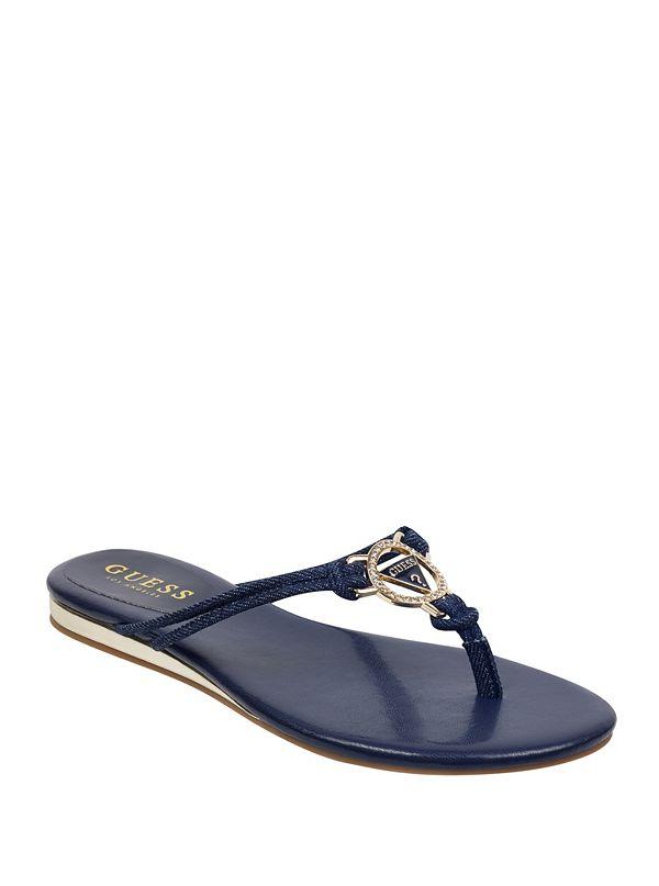 d2714f02ed2 Joinin Denim Logo Thong Sandals